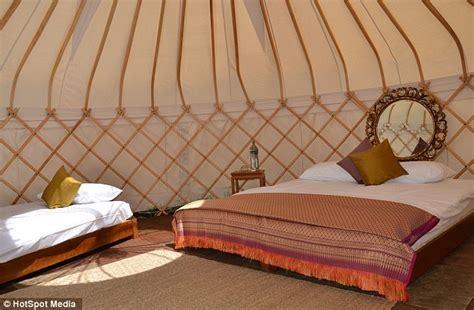 Bespoke Chandeliers Inside Sir Mick Jagger S 163 3 000 Luxury Yurt Ahead Of The