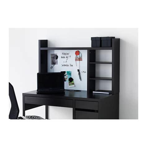 Desk Add On by Micke Add On Unit High Black Brown 105x65 Cm