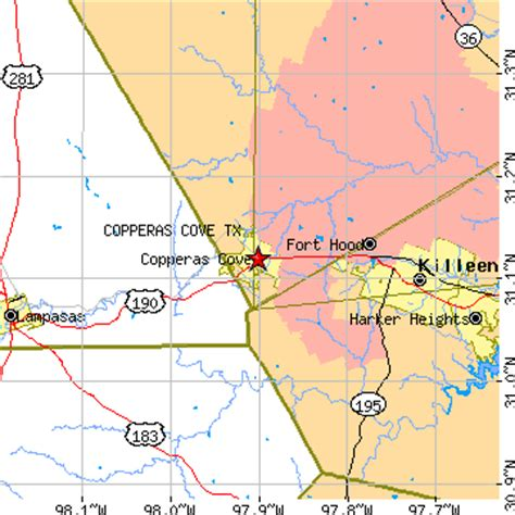 kempner texas map copperas cove texas tx population data races housing economy