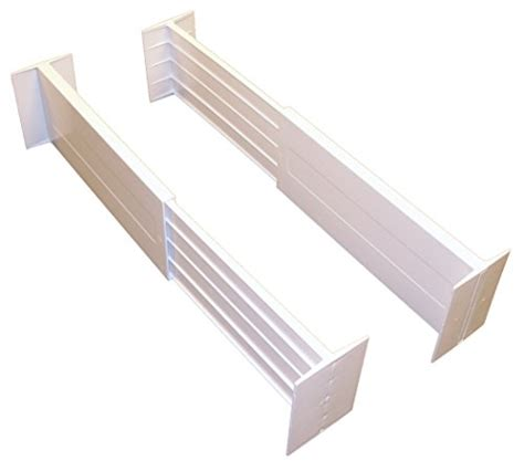 Drawer Divider by Drawer Organizer Set Of 2 White Loaded