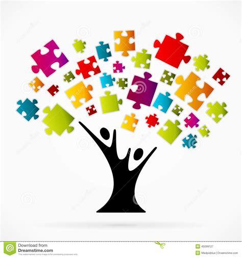 clipart albero albero di puzzle illustrazione vettoriale immagine 45099127
