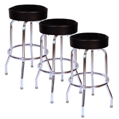Bar Stool Usa by Jet Black Chrome 30 Inch Swivel Bar Stool Set Of Three