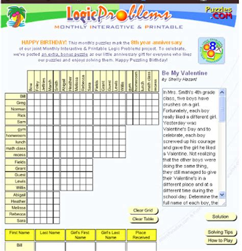 printable christmas logic puzzles for middle school florawisw printable logic puzzles for high school students