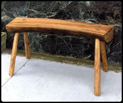 wood log bench solid wood natural log bench