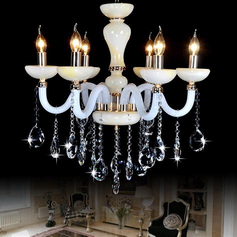 Led Dining Room Chandeliers by Modern Led Chandelier Imitation Jade Chandeliers