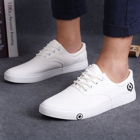 new s flat canvas shoes breathable white black casual