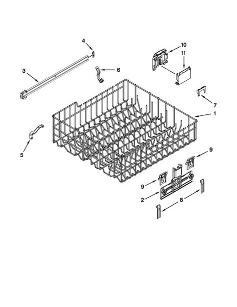 Track Rack Parts kenmore undercounter dishwasher rack and track parts