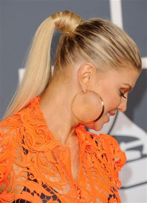 hairstyles long hair ponytail fergie ponytail hairstyle for long hair popular haircuts