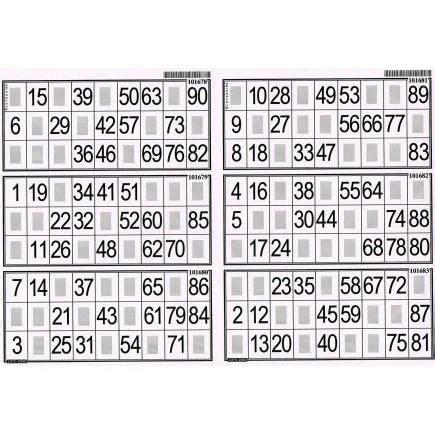 Grille De Bingo by Plaque De 6 Grilles De Loto Lotoquine Acces Achat
