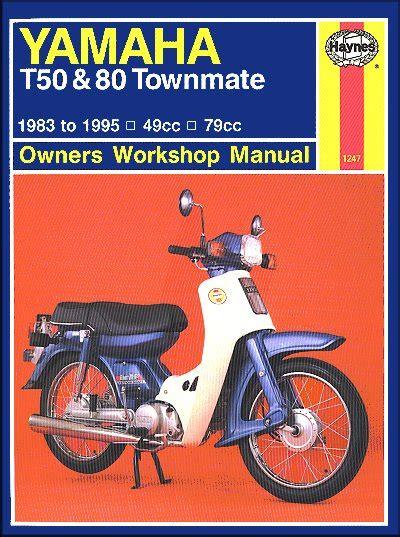 Yamaha T50 T80 Townmate Repair Manual 1983 1995 Haynes 1247