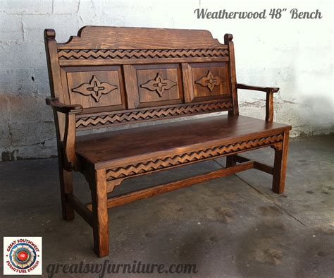 Sw Wood Furniture southwest benches custom southwestern benches