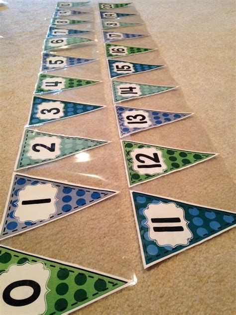 printable number line banner printable number line bunting banner and other classroom