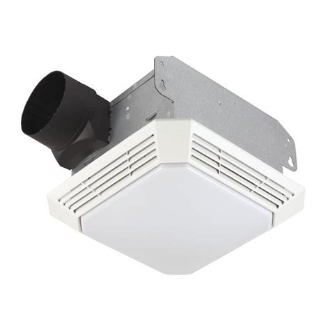 bathroom exhaust fan with light lowes shop broan 3 5 sone 70 cfm white bathroom fan at lowes com