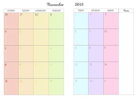 printable arc planner pages 2014 printable month on two pages planner for arc filofax