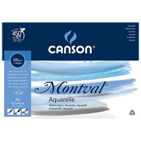 Canson Drawing Paper 110gsm A3 canson 174 montval 174 watercolour paper pad of 12 sheets 300 gsm a3 size