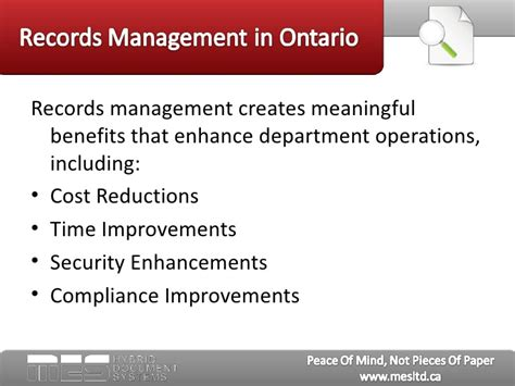 Records Ontario Records Management In Ontario Key Benefits For Human Resource Depar