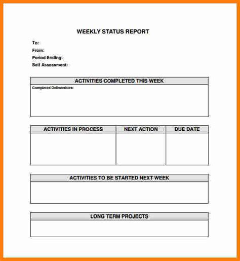 12 Simple Activity Progress Report Template Ledger Paper Simple After Report Template