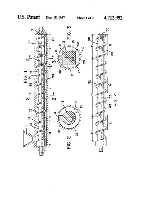 polygonal cross section patent us4712992 extruder with screw having core portion
