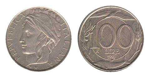 100 lire 1993 testa piccola 100 anni di monete