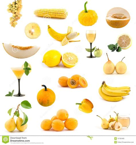 Lemon Yellow Color by Big Collection Of Yellow Vegetables And Fruits Stock Photo