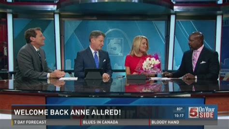 ksdk news whats wrong with anne allred face welcome back anne allred ksdk com