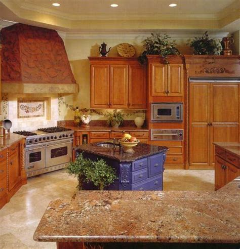 Countertops For Oak Cabinets by Oak Cabinets With Granite Countertops Oak Cabinets