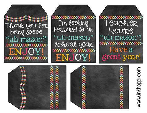 printable gift tags for teachers teacher gift idea with printable tags it s uh mason