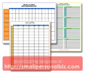 exle of a work plan template weekly template planner