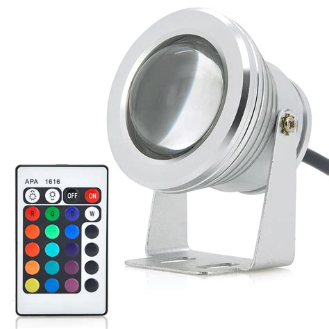 10w outdoor led flood light rgb color changing remote