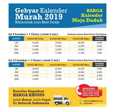 Cetak Kalender Murah cetak kalender murah 2019 percetakan murah surabaya