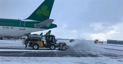 is dublin airport closed weather updates with many flight