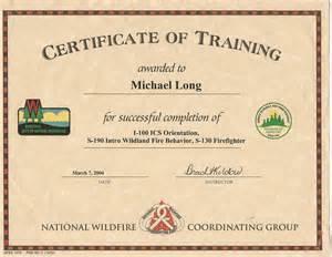 nwcg certificate template nwcg certificate template qualification