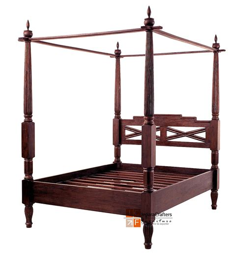 antique canopy bed bali antique canopy beds frame solid teak wood colonial