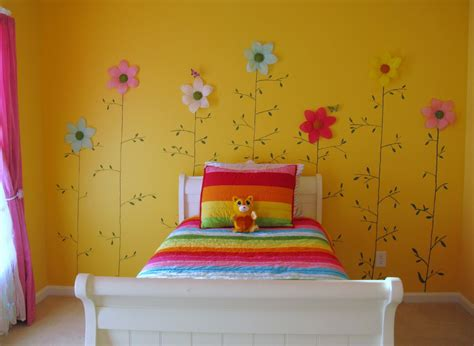 girls bedroom wall colors cheerful yellow girl s bedroom color paint with beautiful