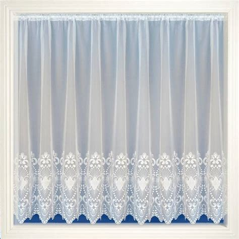 embroidered voile curtains uk amanda white embroidered voile net curtain 2 curtains
