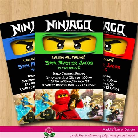 printable ninjago invitations free ninjago invitation lego party pinterest
