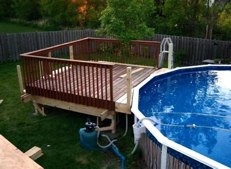 Pool Deck Plans by Above Ground Pool Deck Plans Multi Level Above Ground Pool