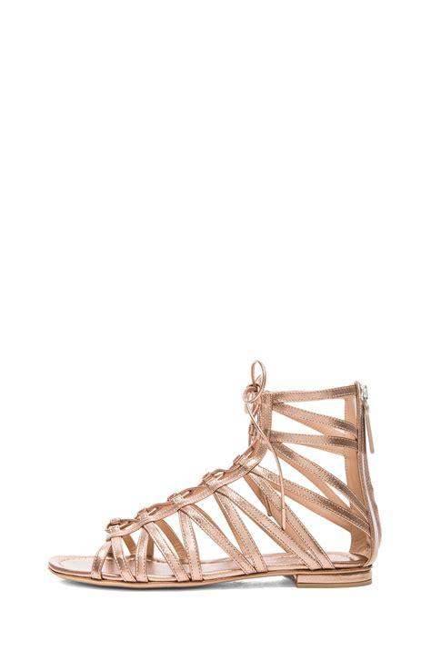 metallic gladiator sandals gianvito gladiator metallic leather sandals in