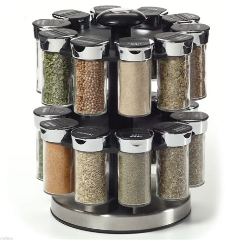 Rotary Spice Rack Kamenstein Two Tier Rotating Spice Rack Spice Jars Racks