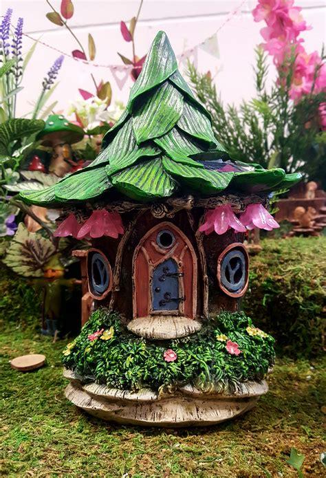 solar fairy house solar flower fairy house fairygardensuk co uk