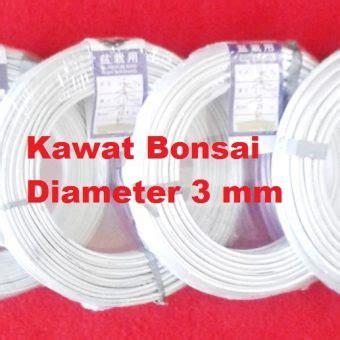 Kawat 3 Pcs Kode Fd10961 kawat bonsai putih 3mm 1 roll 52 1 meter bibitbunga