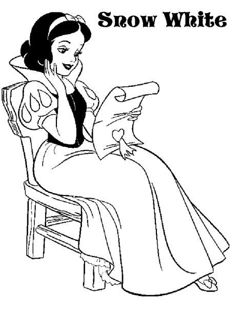 snow princess coloring page princess coloring pages