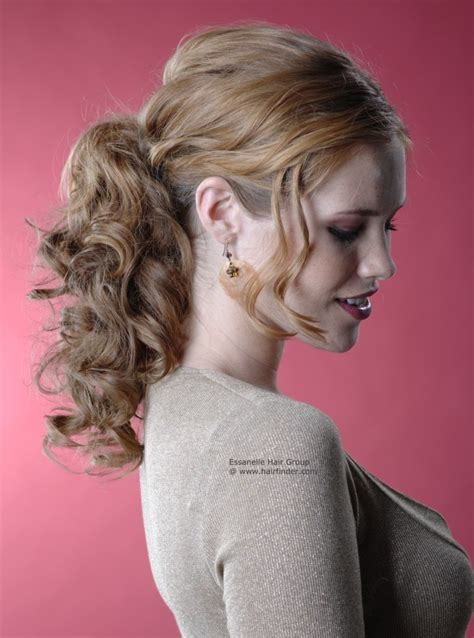 curly hairstyles in a ponytail festive hairstyle with a ponytail for natural curls