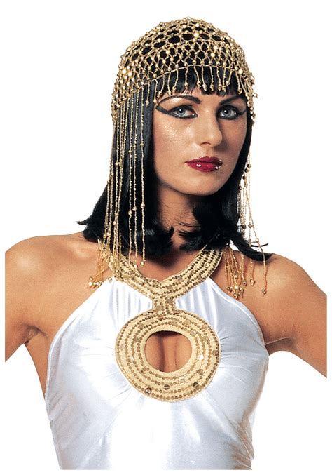 Cleopatra Beaded Headdress Costume Accessories
