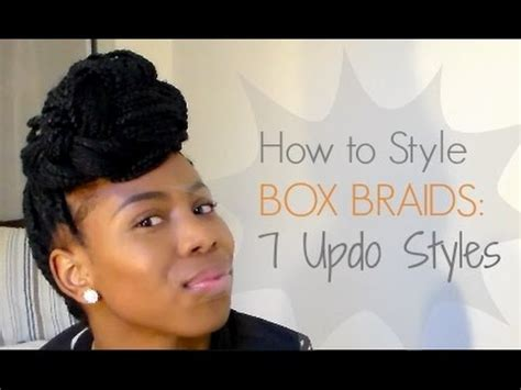 how to style your box braids youtube box braids how to style box braids conecia youtube