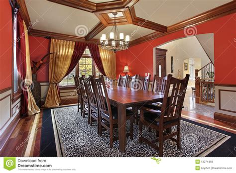 red dining room walls dining room with red walls stock photos image 13274493