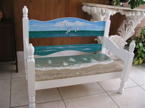 painted bench ideas finished beach bench
