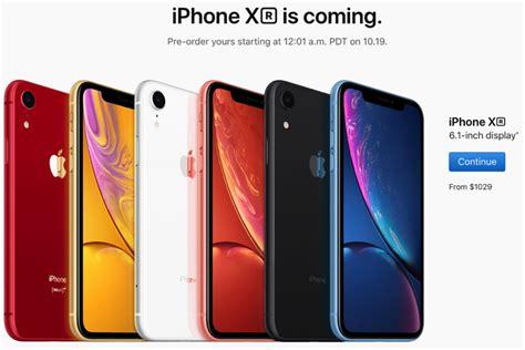 iphone xr pre order date  canada october