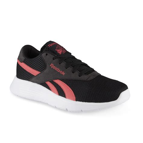 reebok s royal ec ride athletic shoe black pink