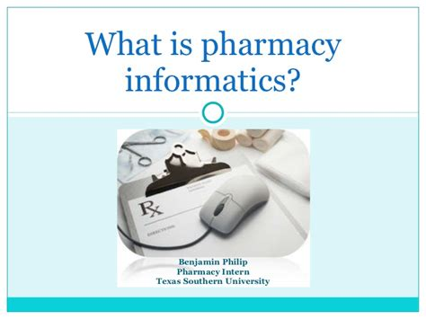 What Is Pharmacy by What Is Pharmacy Informatics